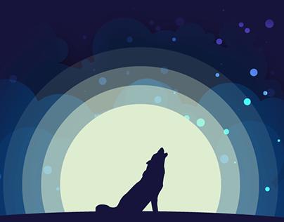 Wolf howl | Flat design