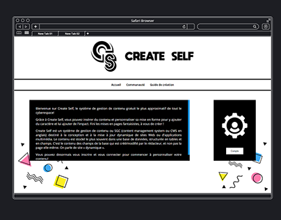 CMS Create Self : my first content system manager