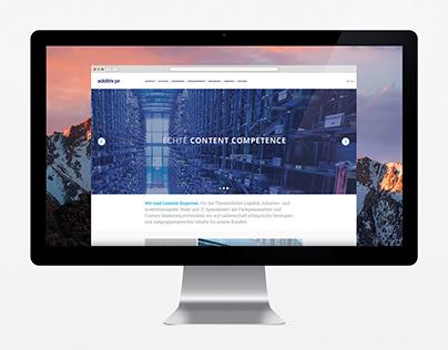 Webdesign & iconography for additiv pr
