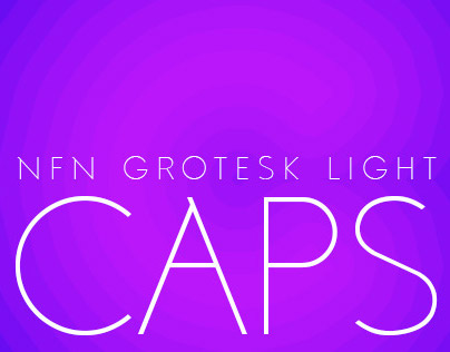 No Fancy Name Grotesk Light - Caps only -