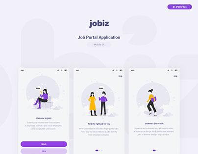 Jobiz - Job Portal Mobile App