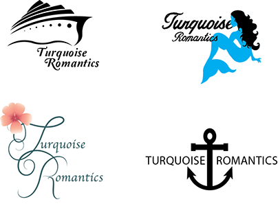 Early Turquoise Romantics logo ideas