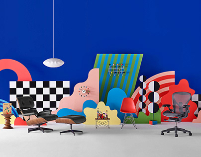 Herman Miller x Wade and Leta Holiday campaign 2019