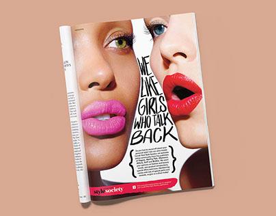Condé Nast Style Society Advertorial