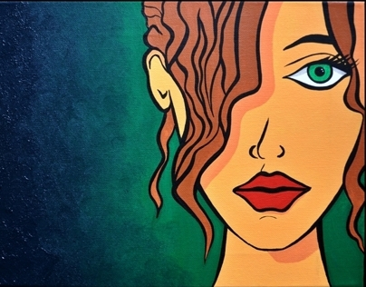 'New Girl' - Original Acrylic Painting on Canvas