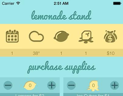 Lemonade Stand App Design