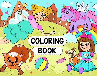 СHILDREN'S COLORING BOOK | KIND CHARACTERS