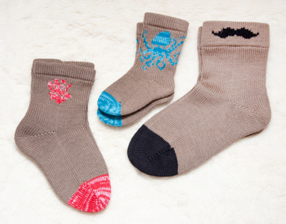 Cloudberry Factory patterned socks