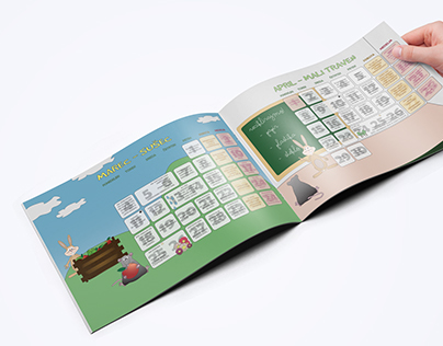 Calendar with eco tips for children