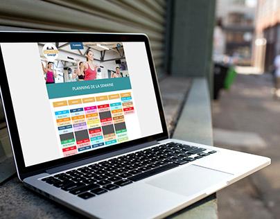 Maquettes Web & Mobile Fitness Concept