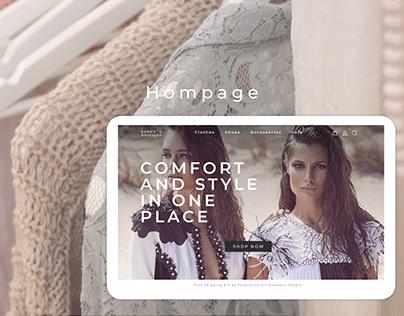 Women's Boutique/ Online Clothing Store Concept