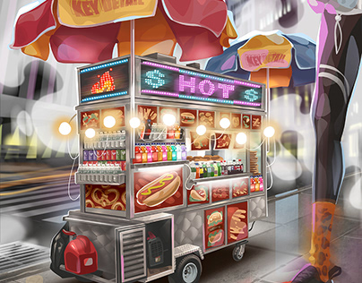 """""""City flavor"""" Illustration by Key Detail"""
