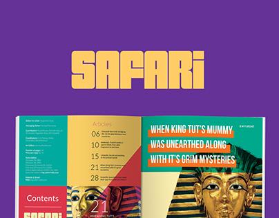 Safari Magazine - Redesign