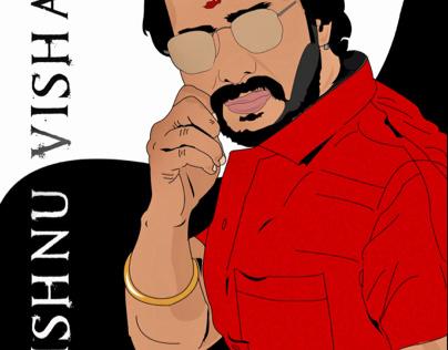 Vector Art for Vishnu Vishal
