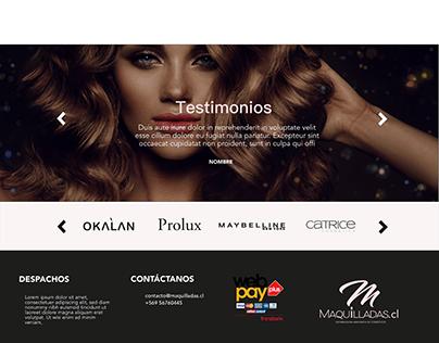 Diseño UX UI Maquilladas.cl