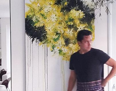 Yellow Flowers - Acrylics 100x150cm