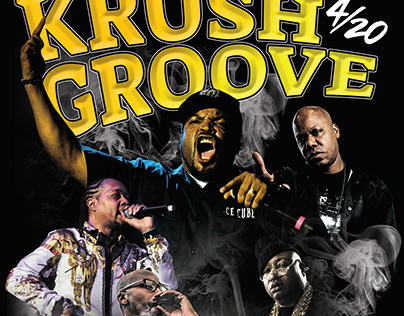 KDAY Krush Groove Rap Tee Design