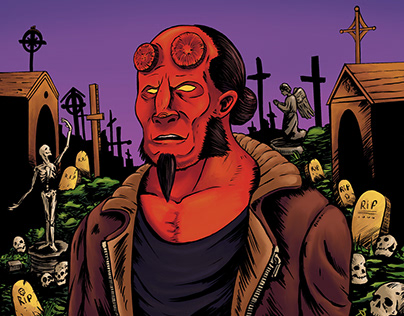Hellboy Personal Illustrion