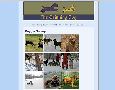 The Grinning Dog, Website Redesign.