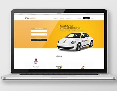 """Baku Taxi"" Web site concept design"