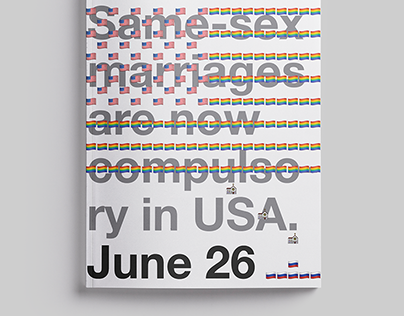 Same-sex marriages are now compulsory in USA