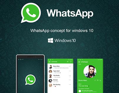 Concept WhatsApp for Windows Mobile 10