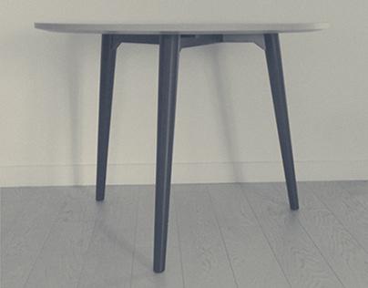 Mobilier, La table tripode