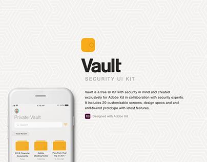 Vault UI Kit for Adobe XD