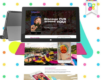 Lolligamer ( Kids Park Website Concept )