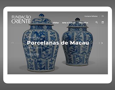Website Fundação Oriente - Homepage redesign