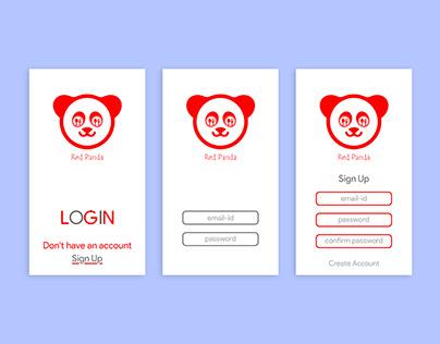 Animated Login UI