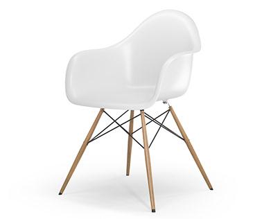 BlenderBoom Free CC0 3D Model - DAW Armchair