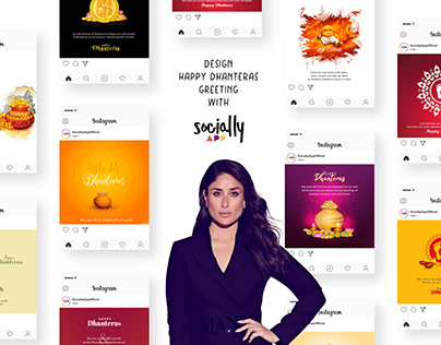 design happy dhanteras greeting, post & story wish
