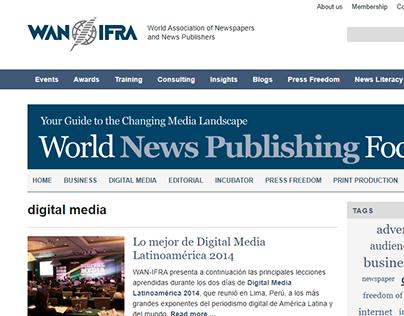 Redactor en Digital Media 2014, del WAN IFRA