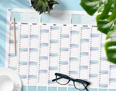 Calendar Designs - Year Planner 2021