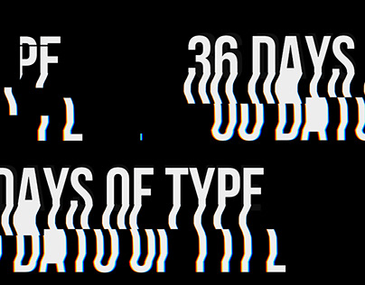 \ 36 days of /glitched/ type