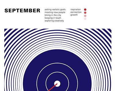 September Goals poster