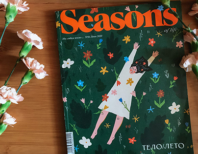 cover for Seasons of Life summer magazine