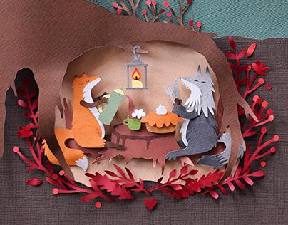 Thanksgiving Dinner | paper art
