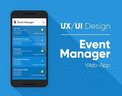 UX/UI Design | Event Manager Web-App