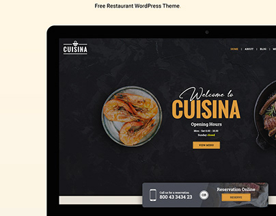Restaurant WordPress Theme – Cuisina