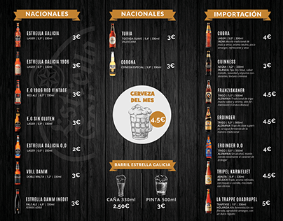 WINE&BEER - DRINK MENU