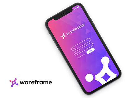 Logotype and login screen design wareframe