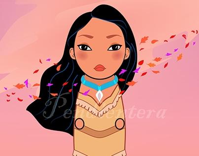 Kokeshi Pocahontas. Fanart.