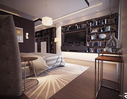 Master bedroom Design, El Mahalla, Egypt.