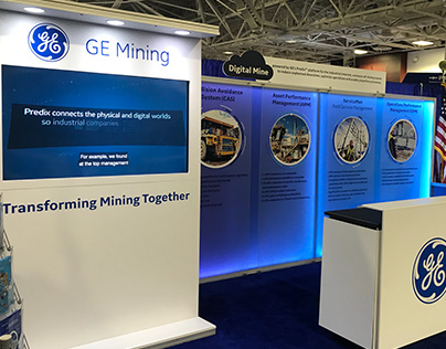 GE Mining - SME '18 | 10'x20' custom exhibit rental