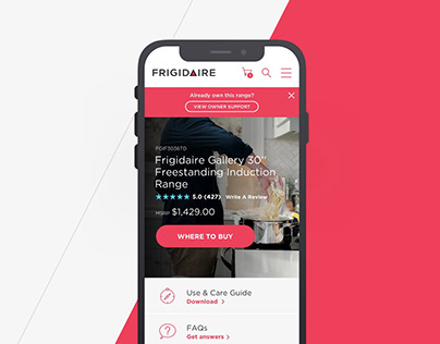 Frigidaire Product Pages