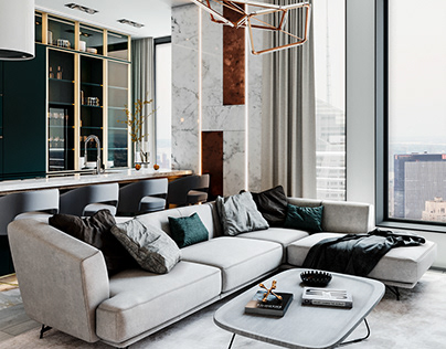 New York apartment. Сontemporary style, 105 m2