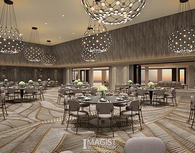 Hotel interior 3d rendering
