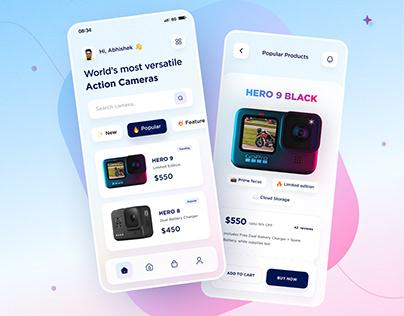 CamPro App UI Design